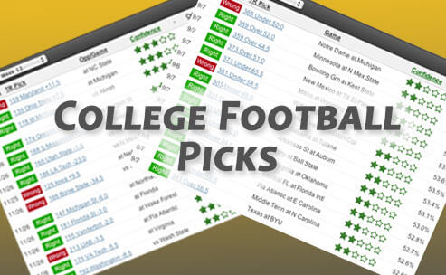 Sample of our college football betting picks