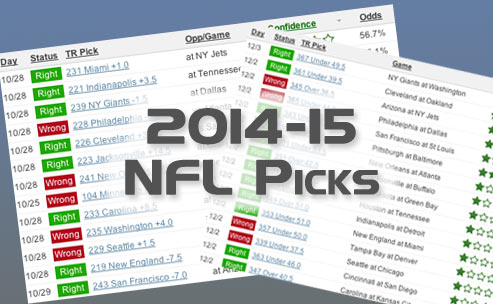 Sample of our 2014-15 NFL betting picks