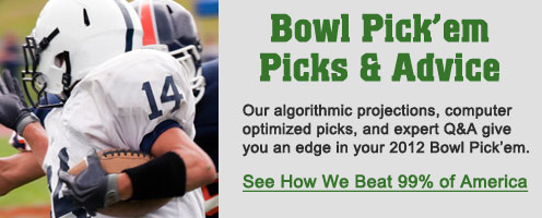 Picks & strategy for 2012 college bowl pick'em contests.