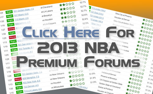 Sample of our 2013 NBA betting picks