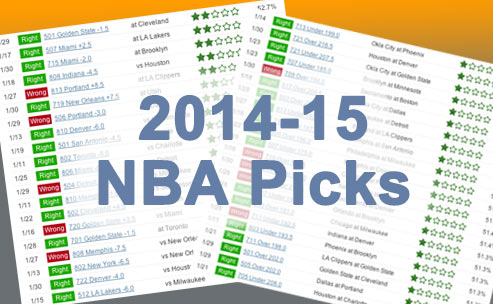Sample of our 2014-15 NBA betting picks