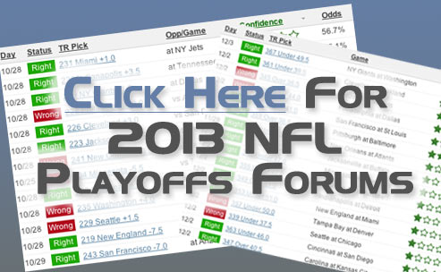 Sample of our 2012 NFL playoff picks