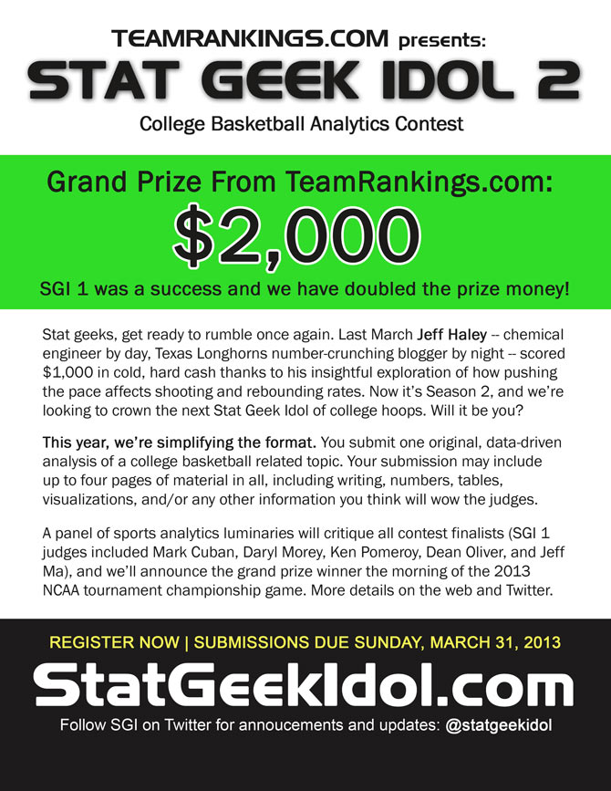 Stat Geek Idol Flyer